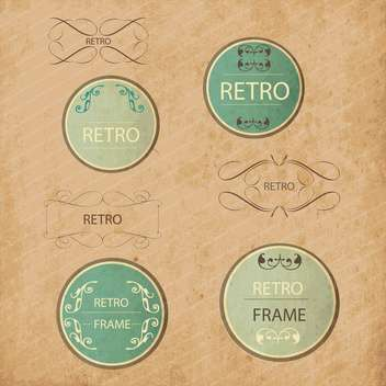 vintage design elements set - vector gratuit #134208