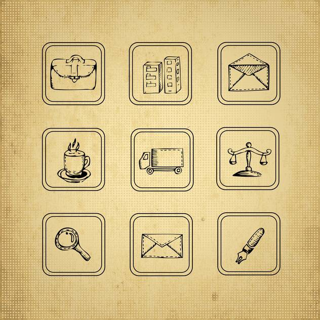 vintage design elements set - vector gratuit #134218
