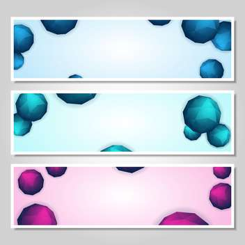 vector set of abstract banners - Free vector #134258