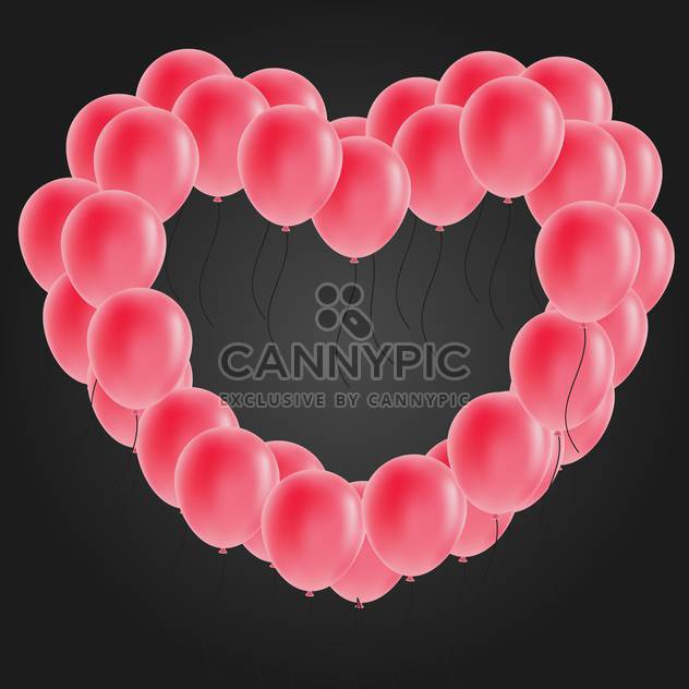 heart shaped balloon vector image - Free vector #134278