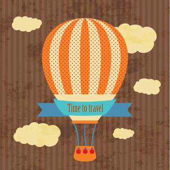 time to travel vintage greeting card - vector gratuit #134288