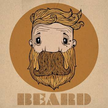 beard hipster icon illustration - Free vector #134308