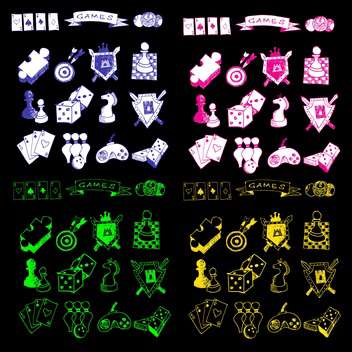 game icons sketch set - vector gratuit #134338