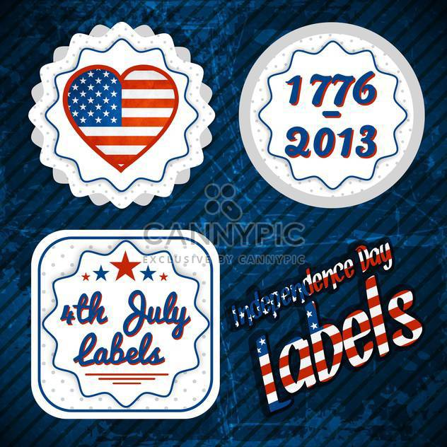 usa independence day labels - Free vector #134348