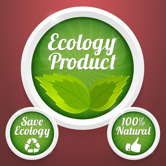 ecology product labels background - vector gratuit #134428