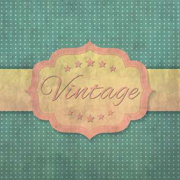 vintage label or poster background - vector #134438 gratis