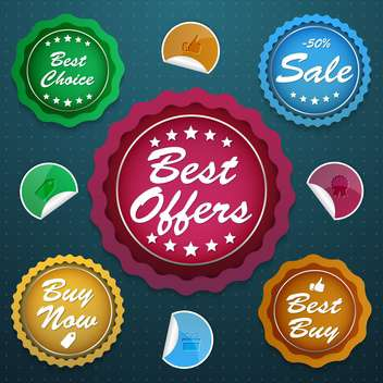 high quality sale labels and signs - vector gratuit #134458