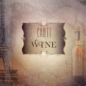 vintage wine card template - vector gratuit #134488