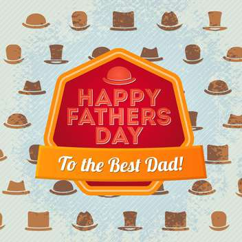 happy father's day label - vector gratuit #134498