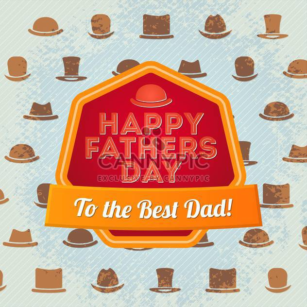 happy father's day label - Free vector #134498