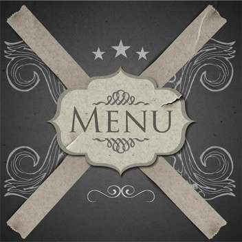 grunge vector template for menu restaurant - vector #134568 gratis