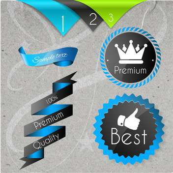 set of labels for best quality items - Kostenloses vector #134588