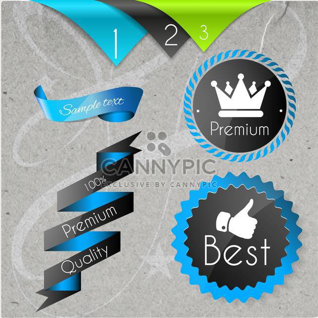 set of labels for best quality items - Free vector #134588