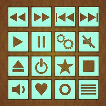 web play buttons set - vector #134628 gratis