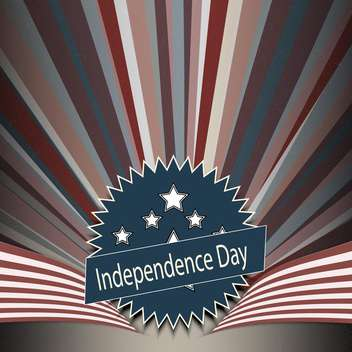 american independence day poster - vector gratuit #134638