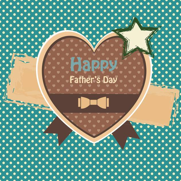 happy fathers day vintage card - vector gratuit #134648