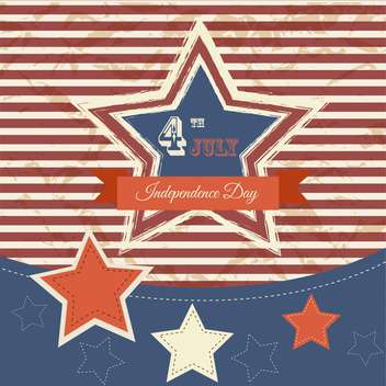 vintage vector independence day poster - vector #134658 gratis