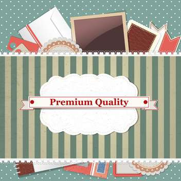premium quality vintage background - vector gratuit #134678