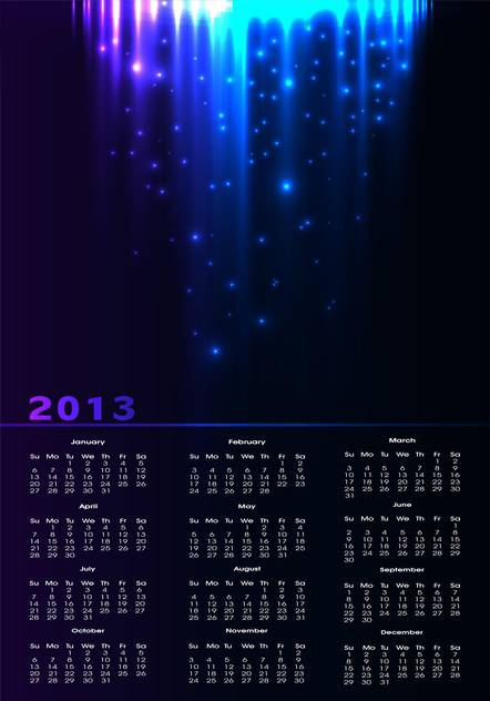 year calendar vector background - Free vector #134698