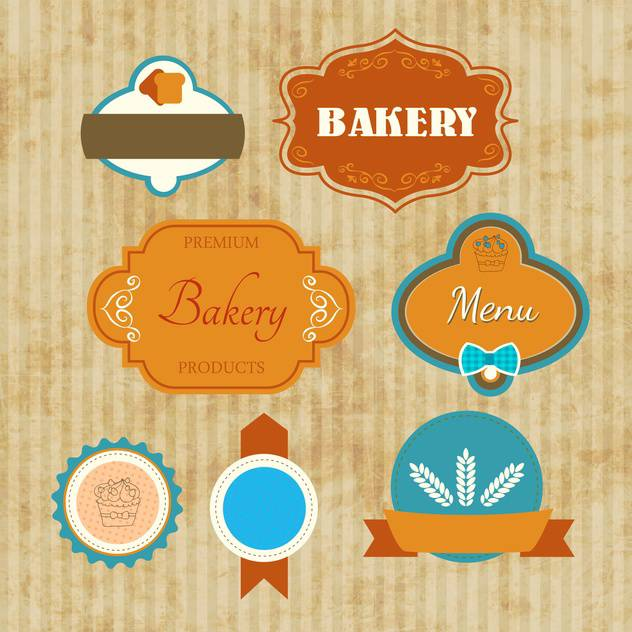 bakery labels vector set - vector #134728 gratis
