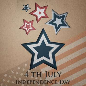 vintage vector independence day background - Free vector #134748