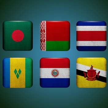 world countries vector flags - Free vector #134758