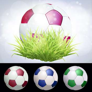 stadium soccer ball vector illustration - бесплатный vector #134768