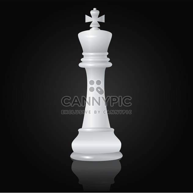 white queen chessman vector illustration - Free vector #134788