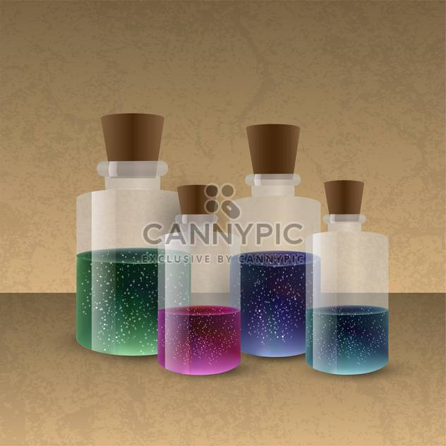 laboratory glassware with colored liquid - Free vector #134808