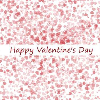 valentine's day background with hearts - vector gratuit #134818