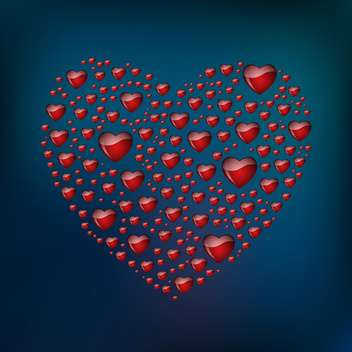 abstract heart shaped form - vector #134838 gratis