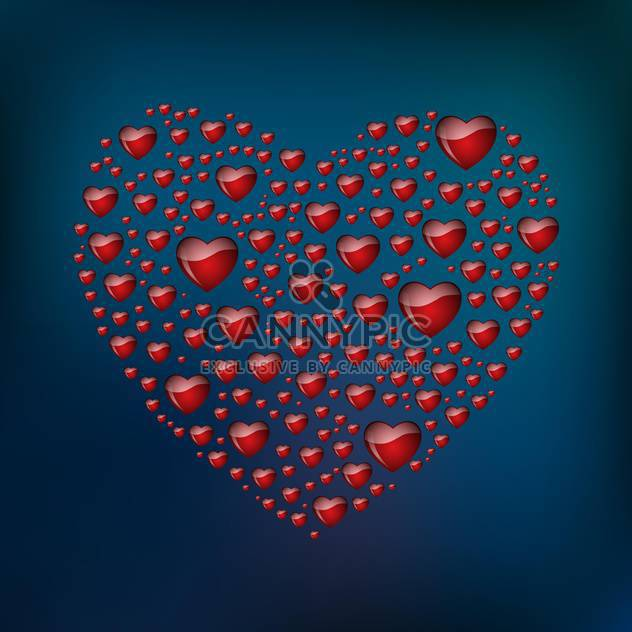 abstract heart shaped form - Free vector #134838