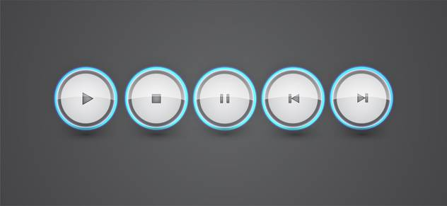 vector set of media buttons - Free vector #134848