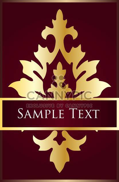 abstract background with curl in victorian style - Free vector #134898