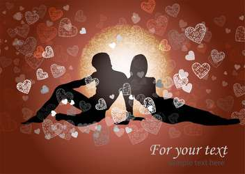 valentine's background with couple in love - vector gratuit #134918