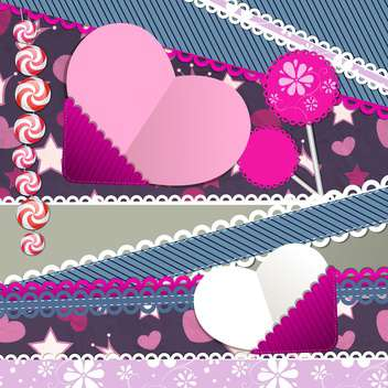 colorful hearts valentines day background - vector gratuit #134948