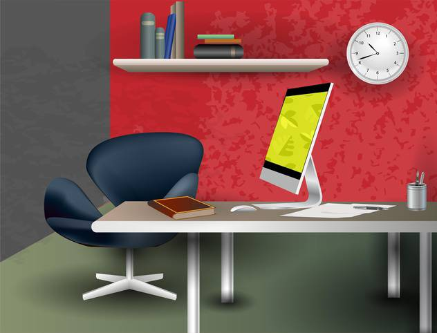 office room interior vector background - vector gratuit #134958