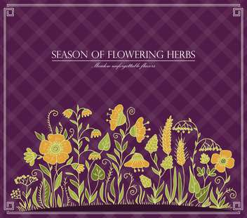 vector season of flowering herbs - vector #135028 gratis