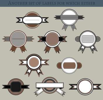 set of different labels and badges in retro style - vector #135208 gratis