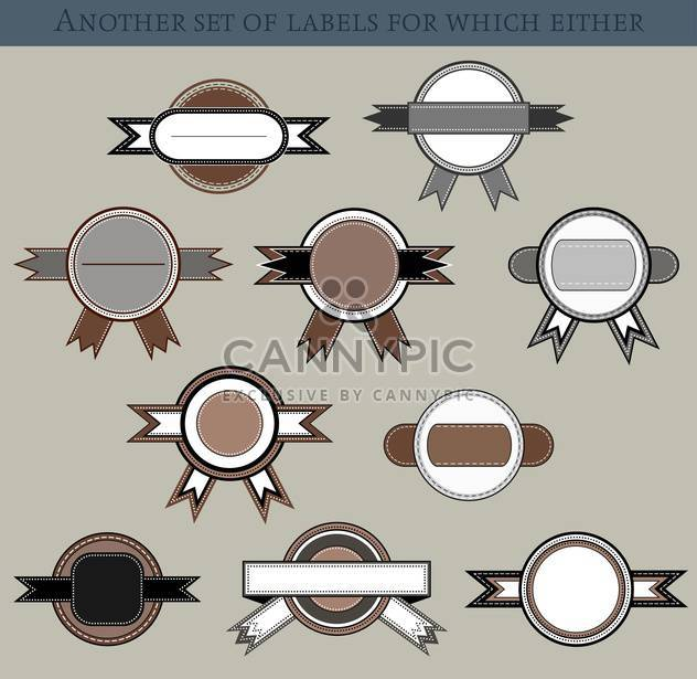 set of different labels and badges in retro style - Free vector #135208