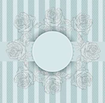 Vector vintage blue frame with flowers - vector gratuit #135248