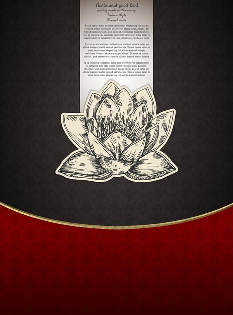 Banner for restaurant menu with lotus flower - Free vector #135278
