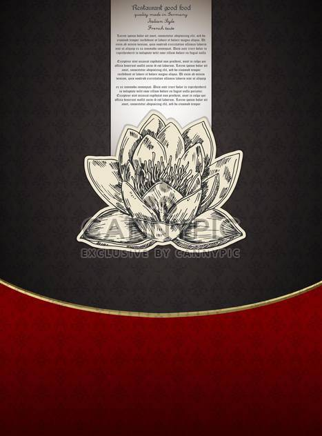 Banner for restaurant menu with lotus flower - vector gratuit #135278